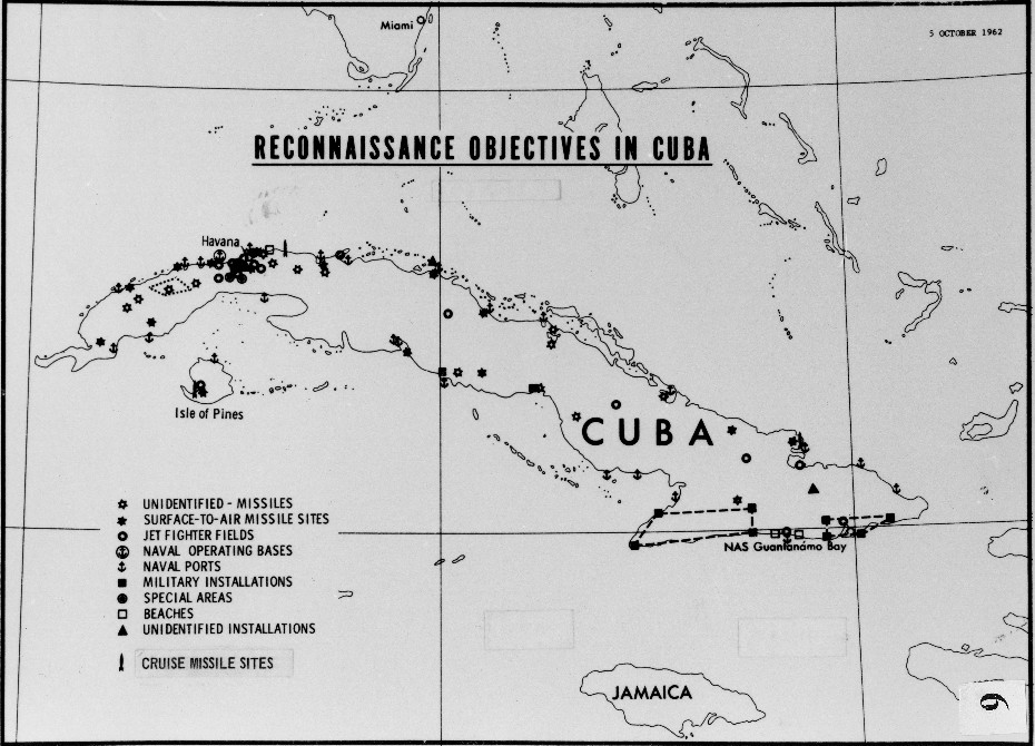 October 5 1962 Cia Chart Of Reconnaissance Objectives In Cuba