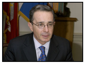 U S  Listed Colombian President Uribe Among