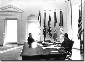 nixon office. President Nixon Meeting With Henry Kissinger In The Oval Office, February 13, 1969 (Copy From Presidential Materials Project, National Archives) Office