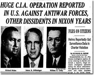 CIA Headline in NY Times