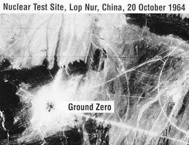CORONA satellite photo, Lop Nur, China, 20 October 1964