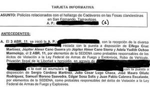 Mexico: Los Zetas Drug Cartel Linked San Fernando Police to