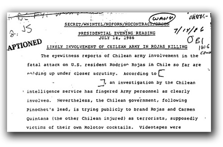 Pinochet Covered up Los Quemados Human Rights Crime in 1986