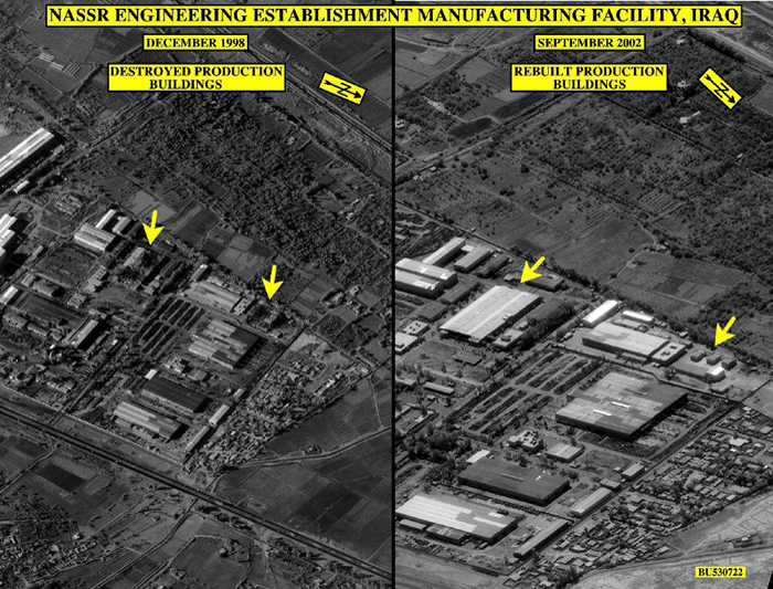 It Had Produced Centrifuge And Electro Magnetic Isotope Separation Components Prior To Desert Storm According The IAEA Imagery Interpreters Concluded