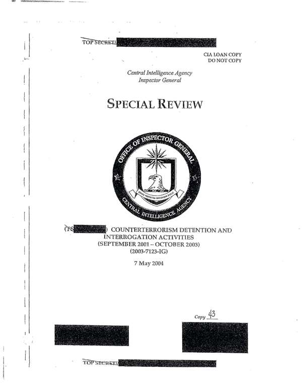 The CIA IG Report on Torture: What were they hiding?